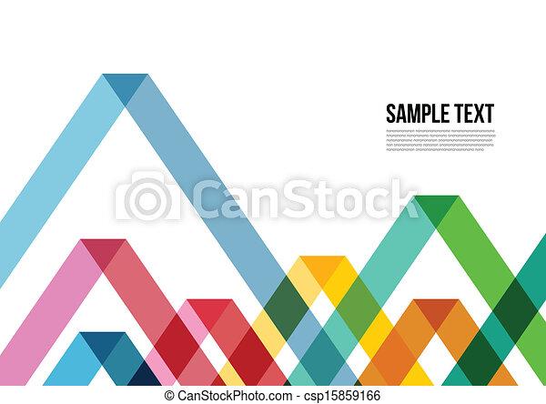 鮮艷, 三角形, 覆蓋, 等等, 小冊子, 背景, 網站, 摘要, namecard, 海報, 布局, pattern., 雜志 - csp15859166