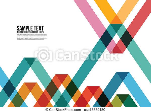 鮮艷, 三角形, 覆蓋, 等等, 小冊子, 背景, 網站, 摘要, namecard, 海報, 布局, pattern., 雜志 - csp15859180