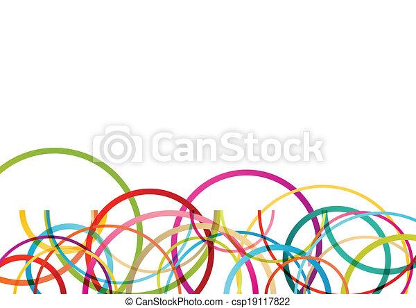 鮮艷, 顏色, 摘要, 線, 插圖, 輪, 矢量, 背景, 波浪, 環繞, 橢圓, 馬賽克 - csp19117822
