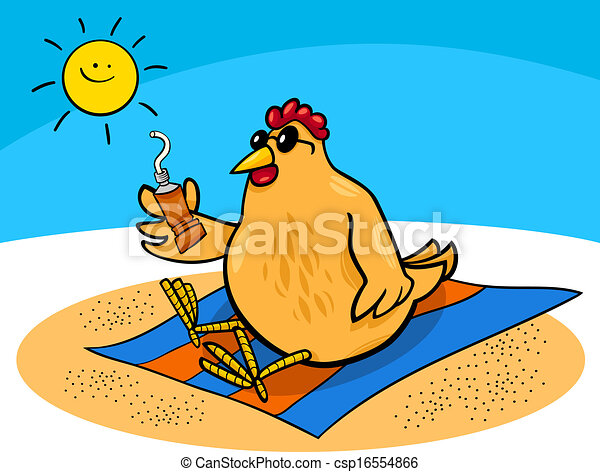 鶏, 浜, 漫画 - csp16554866