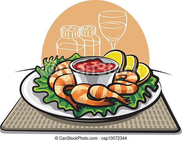 鸡尾酒虾eps 矢量 - 搜索剪贴画,插图,图画和图形图像