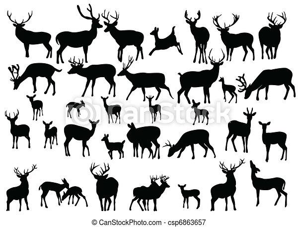 鹿 - csp6863657