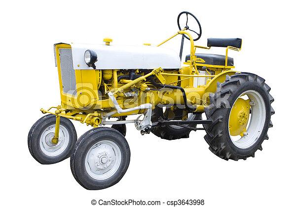 黃色的拖拉机 - csp3643998