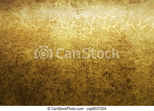 黃金, 錦緞, 老年, 圖案 - csp6537204