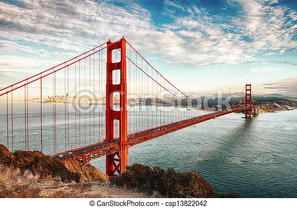 黃金, francisco, san, 橋梁, 門 - csp13822042