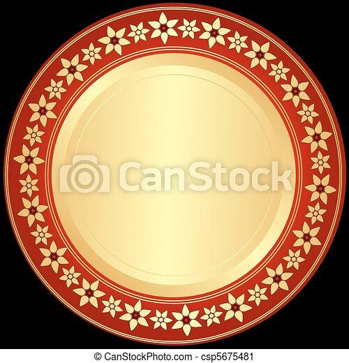 黃金, red-black, 框架 - csp5675481