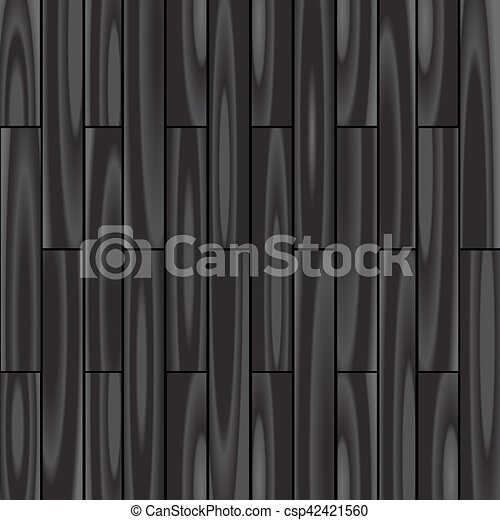 黒い背景, 寄せ木張りの床 - csp42421560