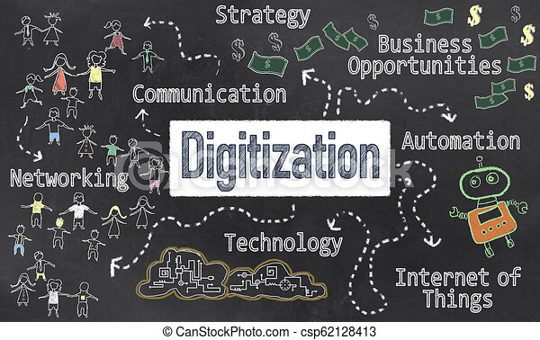 黒板, digitization, 作戦 - csp62128413