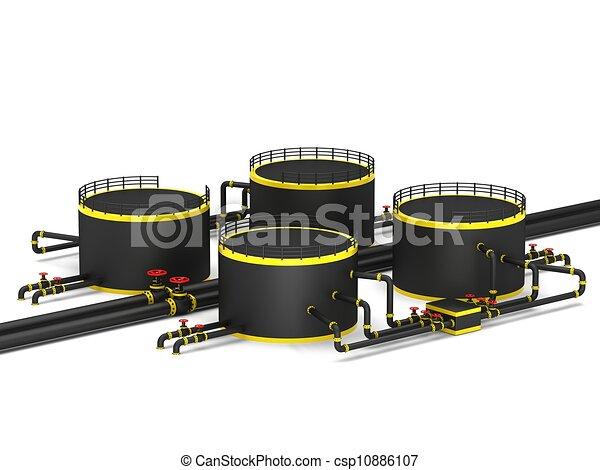 黒, オイル貯蔵, タンク - csp10886107