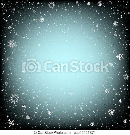 黒, クリスマス, 背景, 雪 - csp42421371