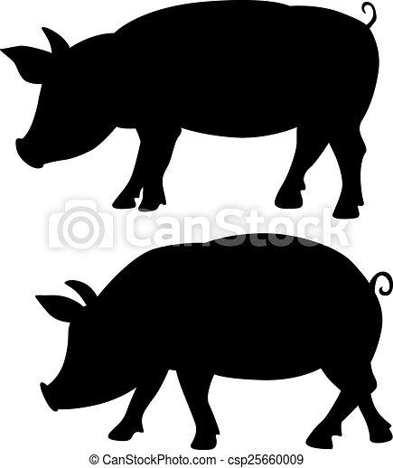 黒 シルエット ベクトル 豚 シルエット イラスト 豚