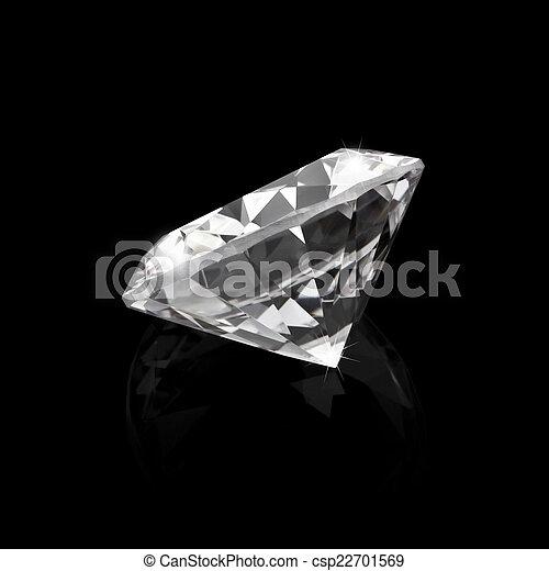 黒, ダイヤモンド, 光沢がある, 背景 - csp22701569
