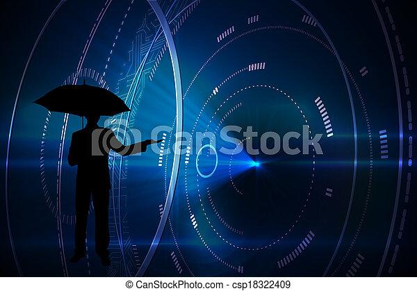 黒, 合成, 背景, 未来派, イメージ, 円 - csp18322409