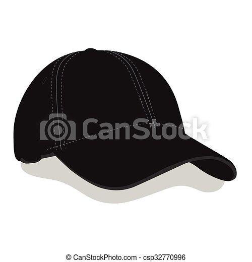 黒 帽子 野球 帽子 イラスト あるいは ベクトル 黒 野球帽子