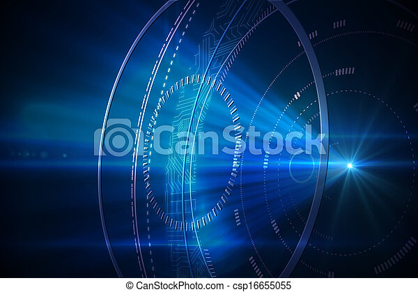 黒, 未来派, 背景, 円 - csp16655055