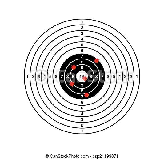 黒, 白, 穴, ターゲット, 赤 - csp21193871
