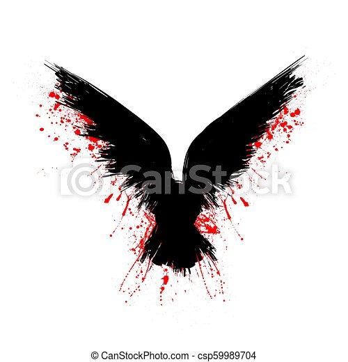 黒, 血, ワタリガラス - csp59989704