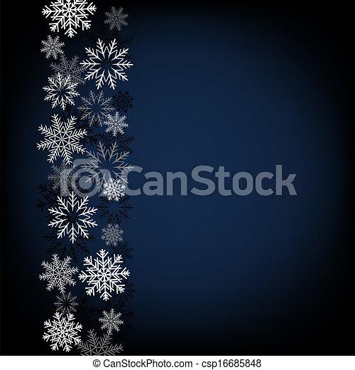 黒, 雪, 背景 - csp16685848