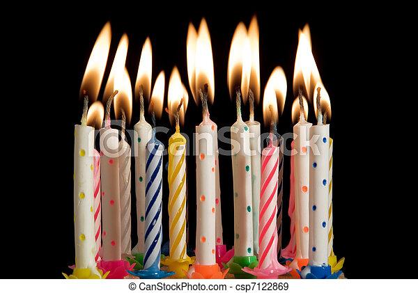 點燃蜡燭, 生日慶祝 - csp7122869