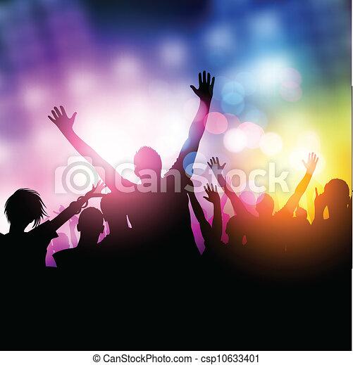 黨, 午夜, 人們 - csp10633401