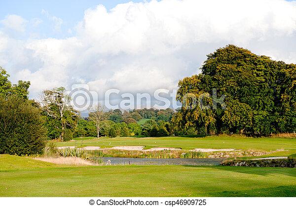 가을, 과정, 골프 - csp46909725