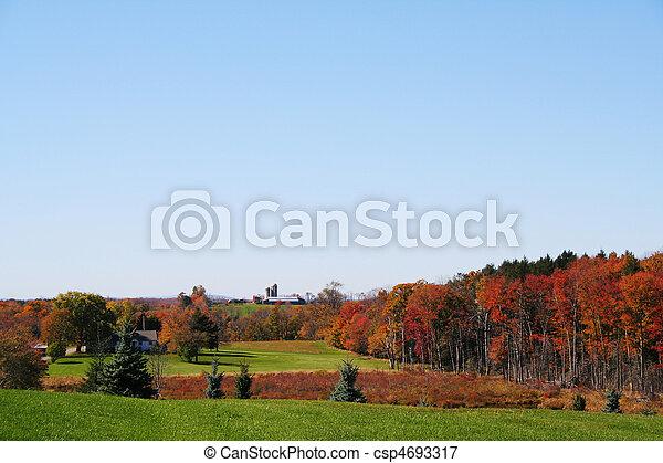 가을, 시골 - csp4693317