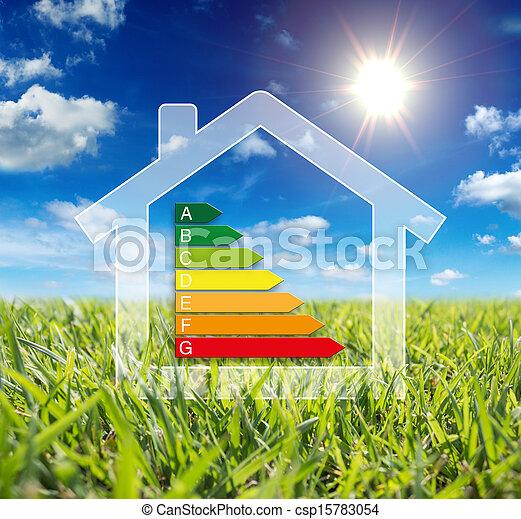 가정, 에너지, -, wattage, 소비 - csp15783054