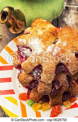 가정, 쿠키, 빵 굽기 - csp19028750