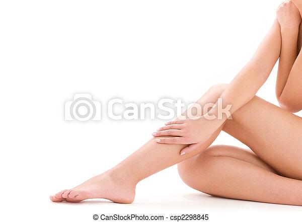 건강한, 아름다운 여성, 다리 - csp2298845