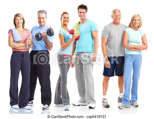 건강한, 적당, 체조, 생활 양식 - csp5419131