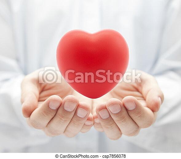 건강, 개념, 사랑, 보험, 또는 - csp7856078