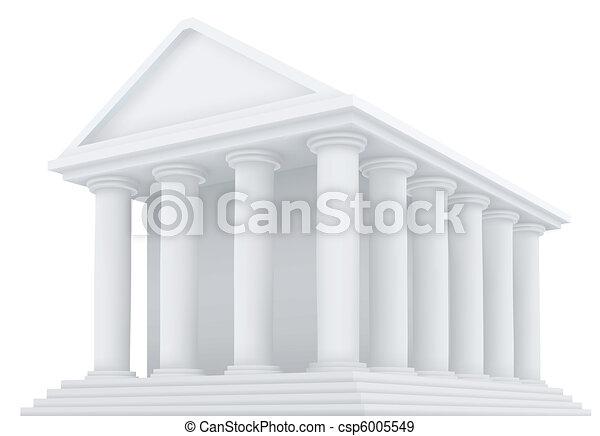 건물, 구식의, 벡터 - csp6005549