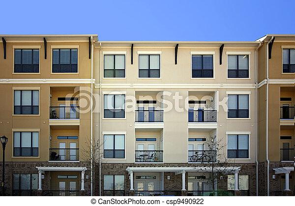 건물, 아파트, (condo), 사치 - csp9490922