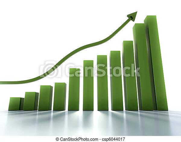 경향, 그래프, 전시, 보통의, 긍정적인 - csp6044017