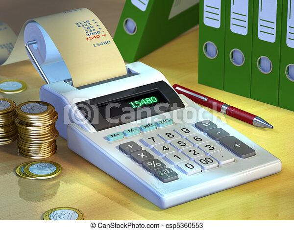 계산기, 사무실 - csp5360553
