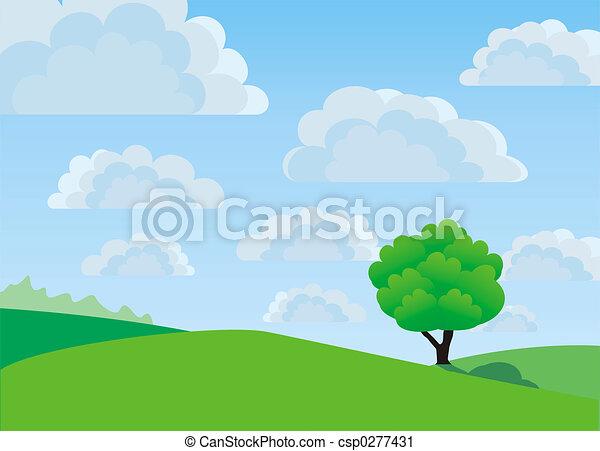 고독한, 나무 - csp0277431