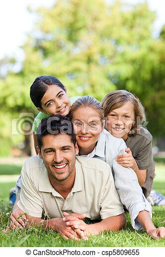 공원, 가족, 행복하다 - csp5809655