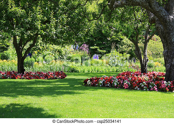 공원, 정원 - csp25034141