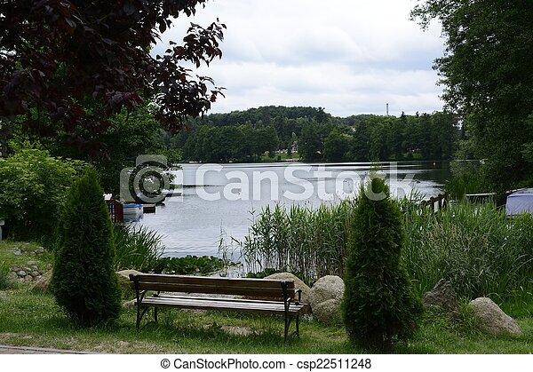 공원, 호수, 진주, crannies, lagow, lubusz - csp22511248