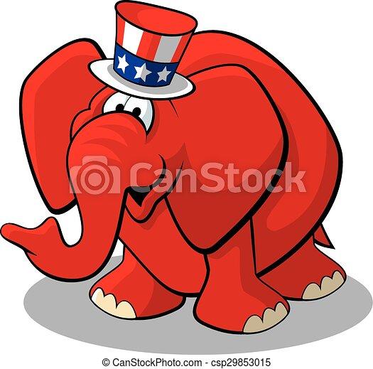 공화당원, 코끼리 - csp29853015