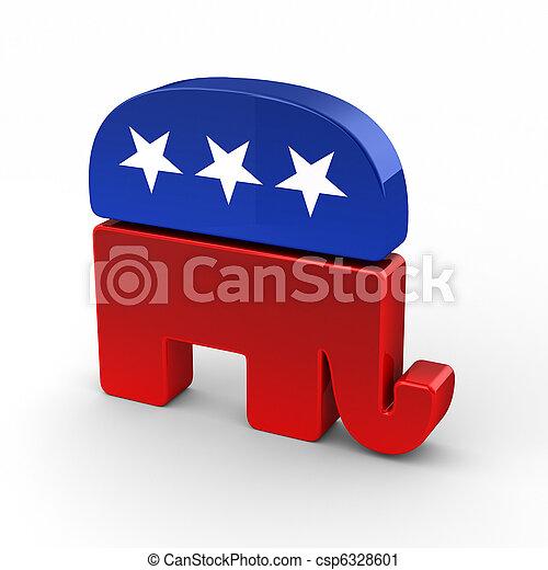 공화당원, 코끼리 - csp6328601