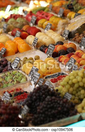 과일, 시장 - csp10947506