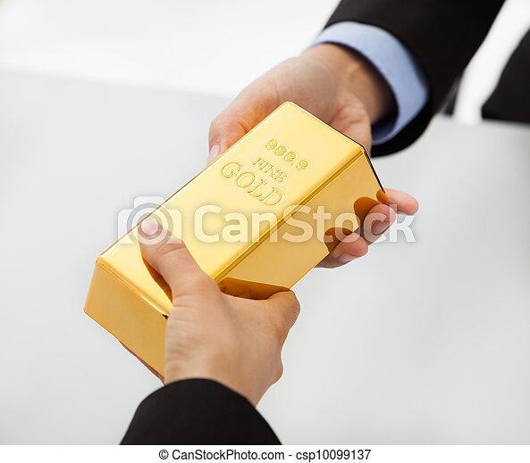 교환하는 것, 황금, 막대기, 실업가 - csp10099137
