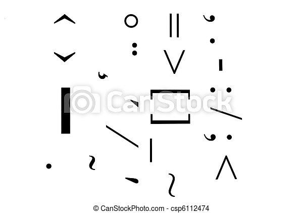 구두점, 기호 - csp6112474