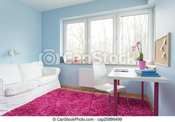 귀여운, 아파트, 유행 - csp25886499
