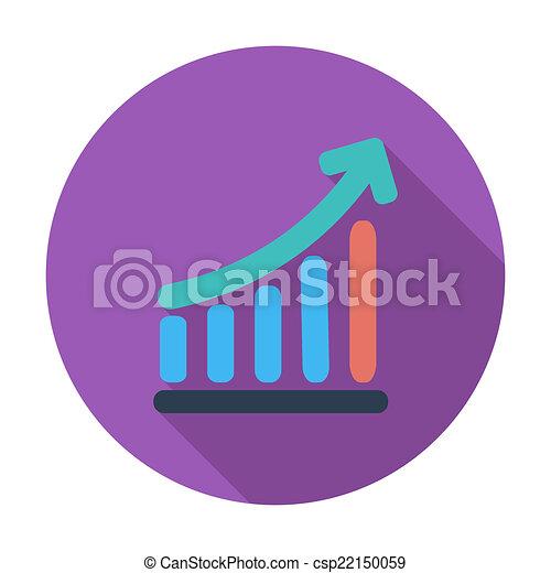 그래프, 단일, icon. - csp22150059