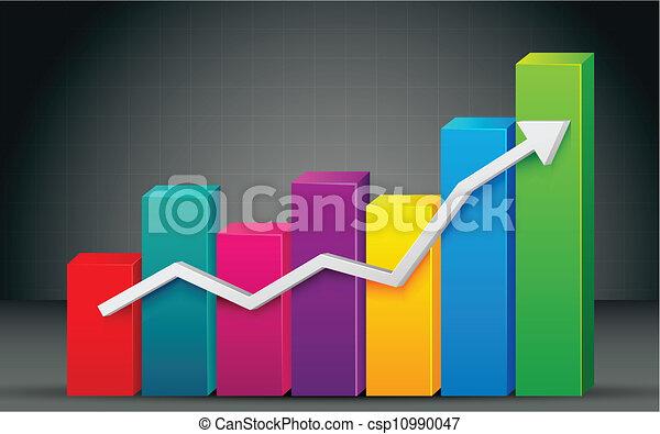 그래프, 막대기, 다채로운 - csp10990047