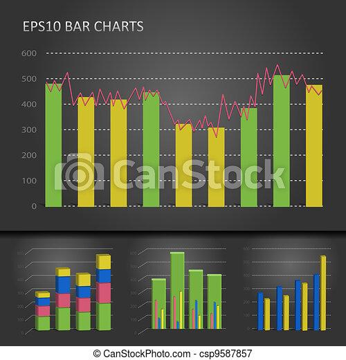 그래프, 막대 그림표 - csp9587857