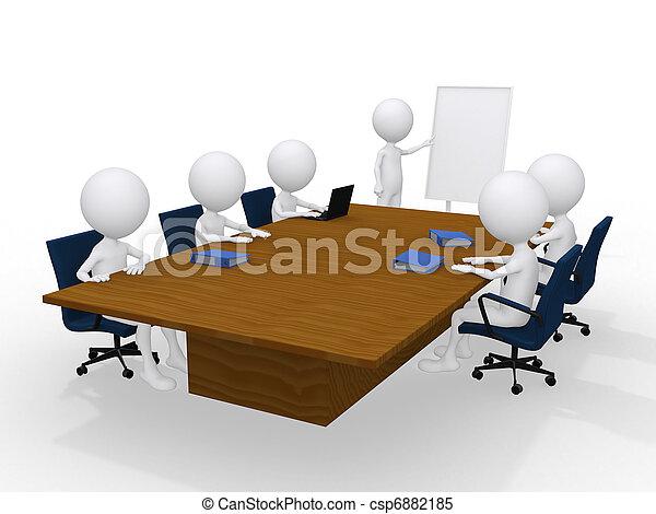 그룹, 고립된, 사람, 백색, 특수한 모임, 3차원 - csp6882185