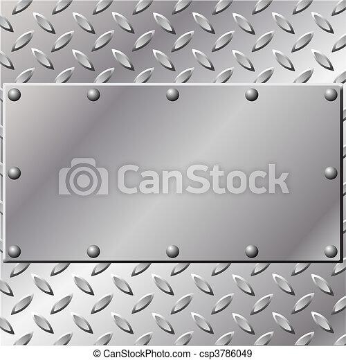 금속, 배경 - csp3786049